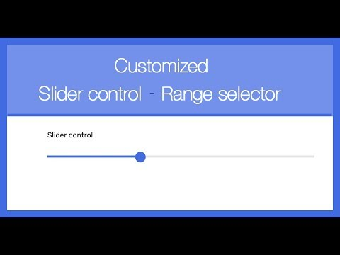 Customized Slider Control - Range Selector