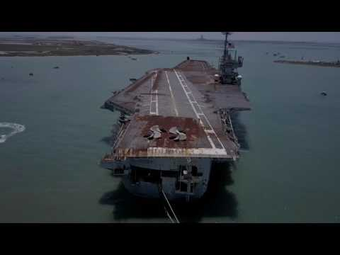 USS Independence CV-62 final voyage to scrapyard in Brownsvi