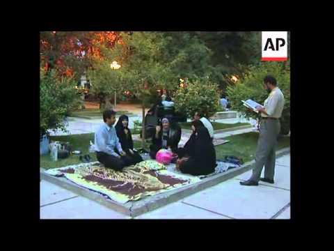 Tehran residents react to quake