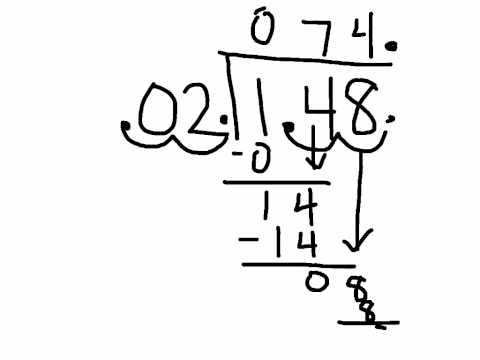 Math grade 5 divide moving decimals
