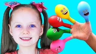 Daddy finger Nursery Rhymes Play with Balloons and learn colours - by Olivia Kids Tube