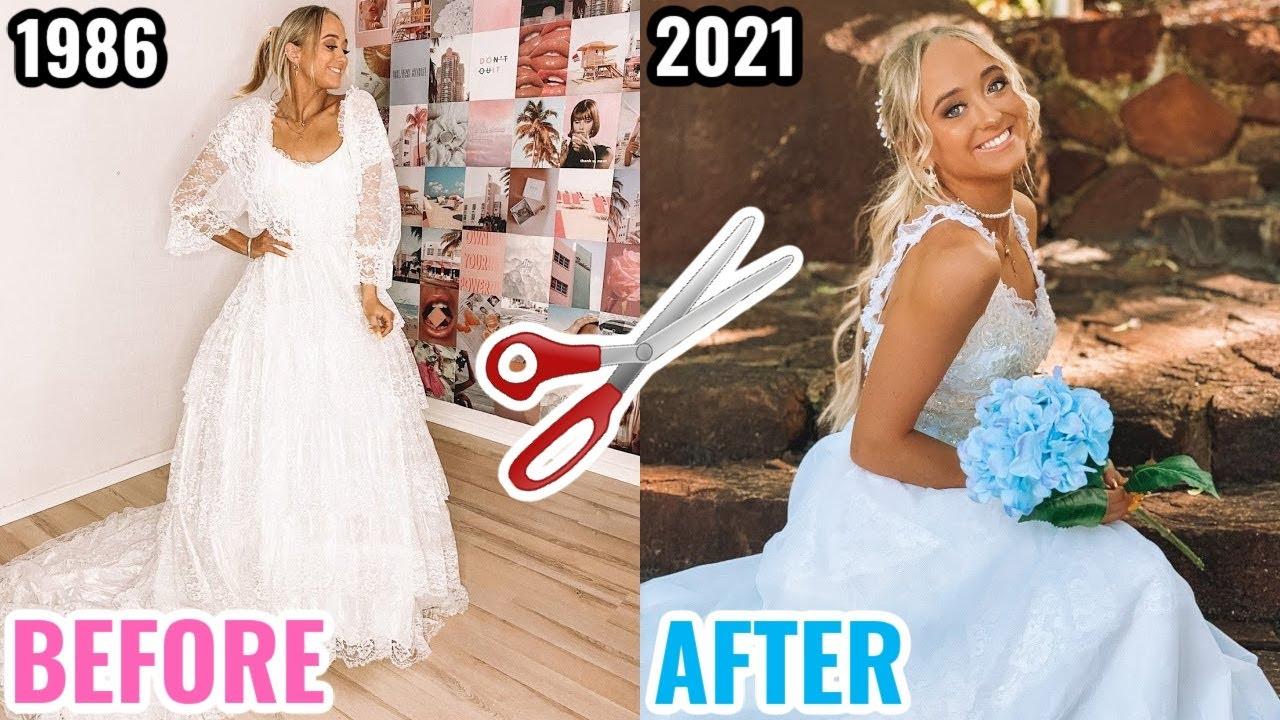 DIY WEDDING DRESS MAKEOVER CHALLENGE (TWIN VS TWIN)