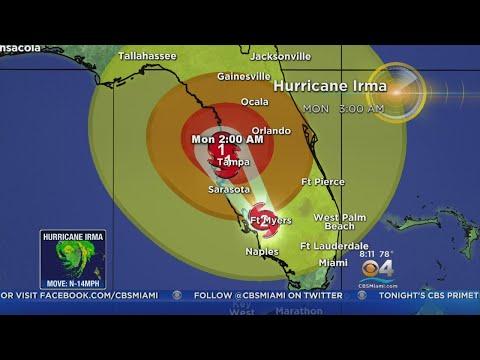 Tracking Hurricane Irma 9/10/17 8 PM