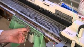 Set-In Sleeve Machine Knitted Upside Down by Diana Sullivan