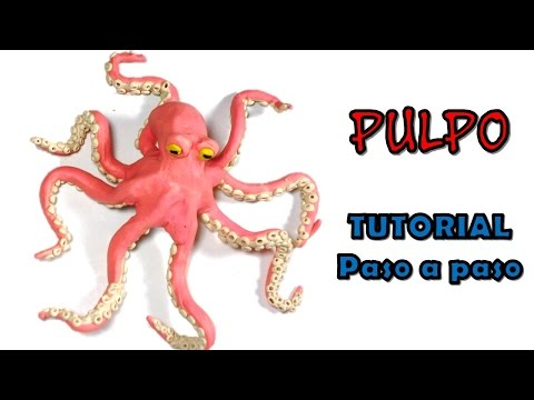 Como hacer un pulpo de Plastilina / How to make an octopus with Plasticine