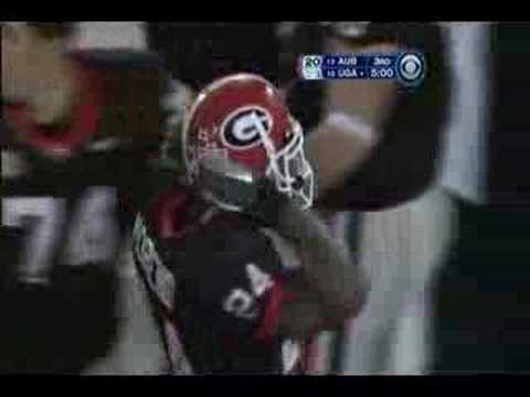 Knowshon Moreno scores a TD from 24-yards out against Auburn