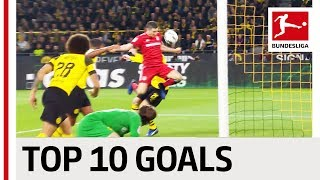 Top 10 Team Goals in 2018/19 - Lewandowski, Sancho, Robben & Co.