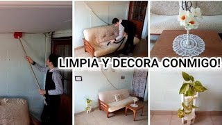 LIMPIA Y DECORA CONMIGO MI SALA LIMPIEZA 🧼 PROFUNDA DE MI SALA motivación para limpiar tu casa🏠
