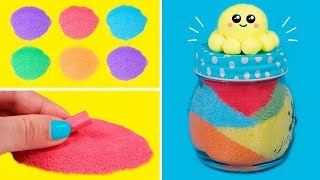 We decorate with colored sand 😀 DIY in Easy Crafts for Kids  ✂📏
