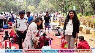 ಪುಟ್ಟ ಮಕ್ಕಳಿಂದ ರಸ್ತೆ ಸುರಕ್ಷತಾ ಜಾಗೃತಿ ..!!! | 'Sadak Suraksha - Jeevan Raksha'