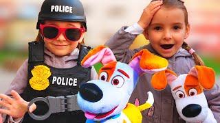 Папа и девочки играют в полицейского Видео Для Детей / Fun Pretend Play POLICE with Daddy