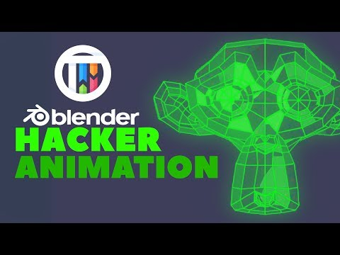 Blender 2.8 Eevee Tutorial - Hacker Matrix Style Wireframe Animation thumbnail