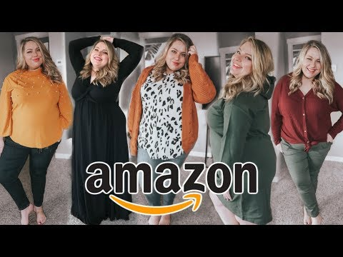 HUGE AMAZON TRY ON | PLUS SIZE FASHION + HOW TO SHOP AMAZON