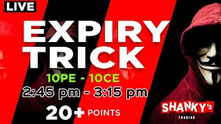 28th October 2021 Live Trading In Bank Nifty - Expiry Trick - Shankys Trading