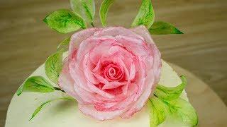 🌹Вафельные цветы для торта🎂. Вафельная флористика - Я - ТОРТодел!