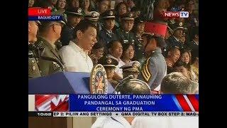 NTVL: Pangulong Duterte, panauhing pandangal sa graduation ceremony ng PMA