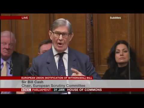 Passionate speech by the Grandfather of Brexit, Bill Cash