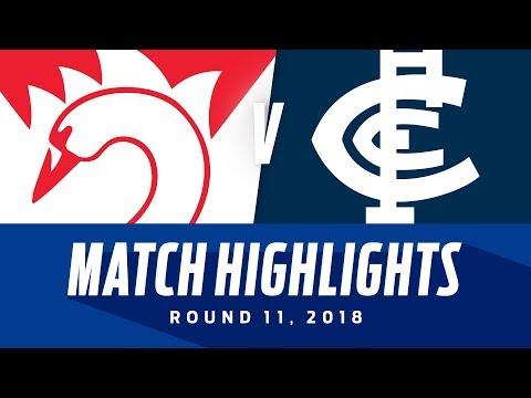 Sydney v Carlton Highlights | Round 11, 2018 | AFL