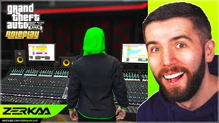I Dropped A Freestyle In The Studio In GTA 5 RP!