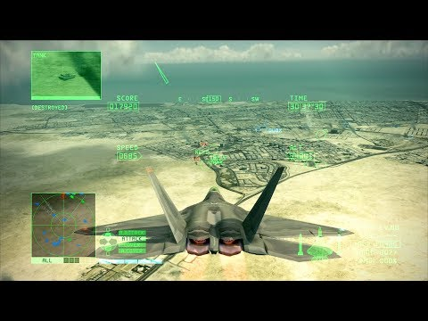 Ace Combat 6 - F-22 Raptor INTENSE AIR TO GROUND Support (De