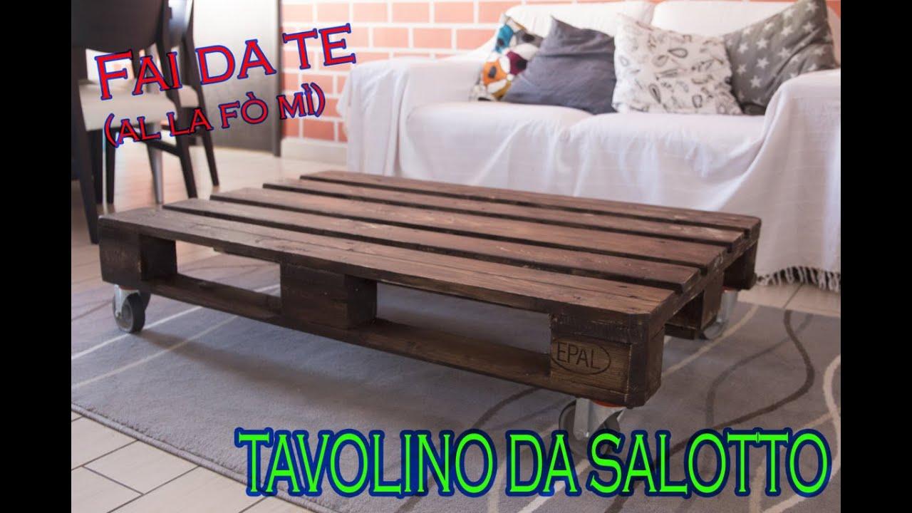 Tavoli Da Salotto Fai Da Te : Fai da te*** tavolino con bancale tutorial #recupero # table with