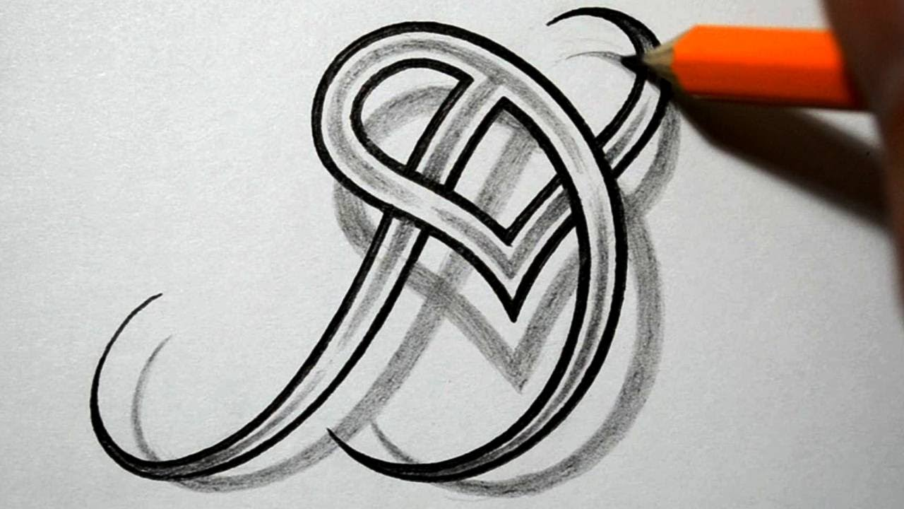 Initial d and heart combined together celtic weave style letter initial d and heart combined together celtic weave style letter tattoo design youtube altavistaventures Gallery