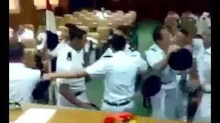 رقص طلاب كليه الشرطة على النشيد الوطنى المصرى