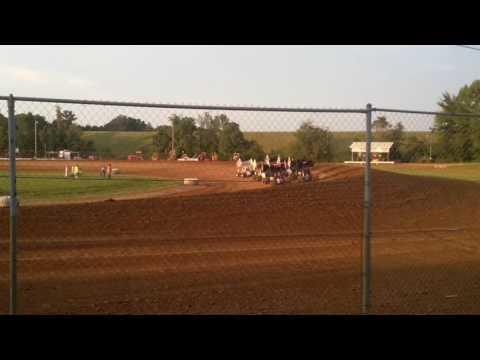 ASCoC Sprint Car Heat 1 Part 2/3 Brownstown Speedway
