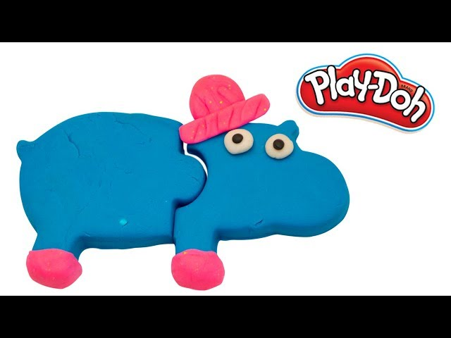 Play Doh Hippo and Elephant | How to make a Play-Doh Elephant and Hippo |