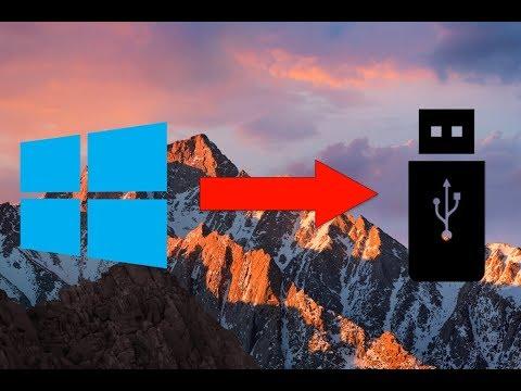 Create windows 10 bootable usb on mac high sierra