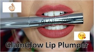 GLAMGLOW lip plumper before and after