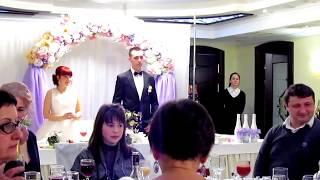 Свадьба, первый тост и поздравления Запорожье 2018, тамада-ведущая Мария