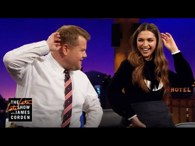 Deepika Padukone Teaches James the Lungi Dance