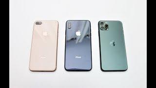 iPhone 8 Plus vs. iPhone Xs Max vs. iPhone 11 Pro Max Performance Comparison (S3-E5)