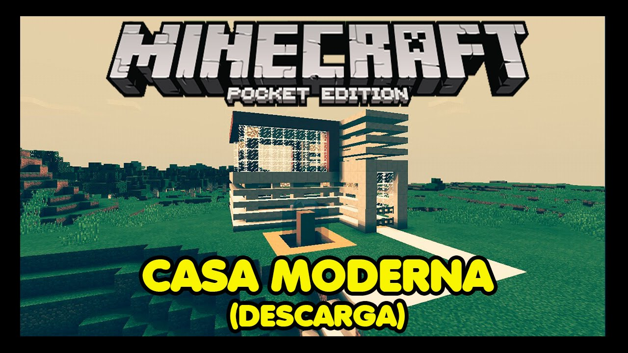 Descarga casa moderna para minecraft pe youtube for Casa moderna minecraft 0 12 1