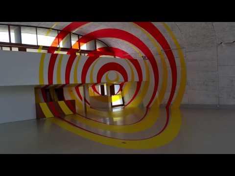 Felice Varini - Unité d'Habitation Le Corbusier