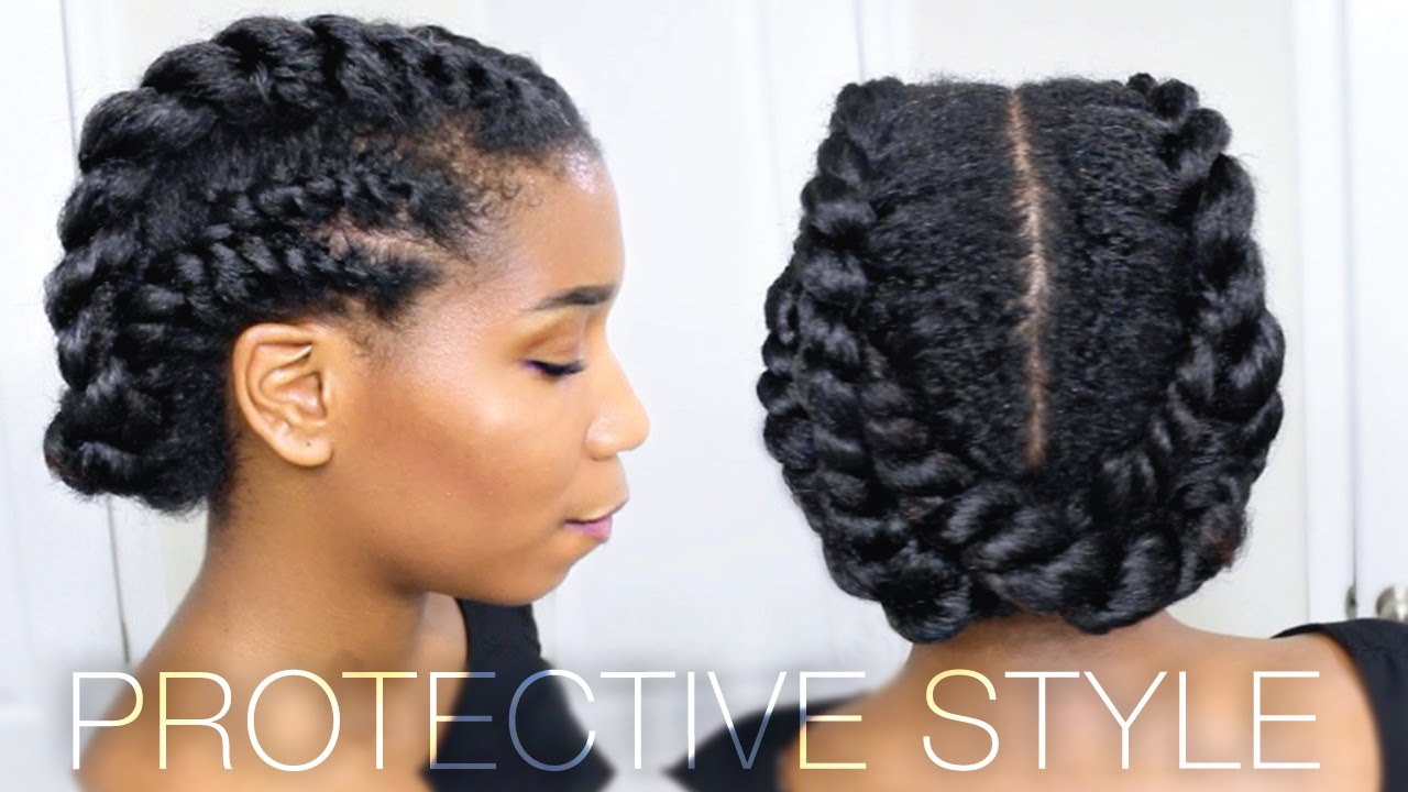 You Tube Natural Hair Styles: Edgy Twisted Office + Gym Protective Natural Hairstyle