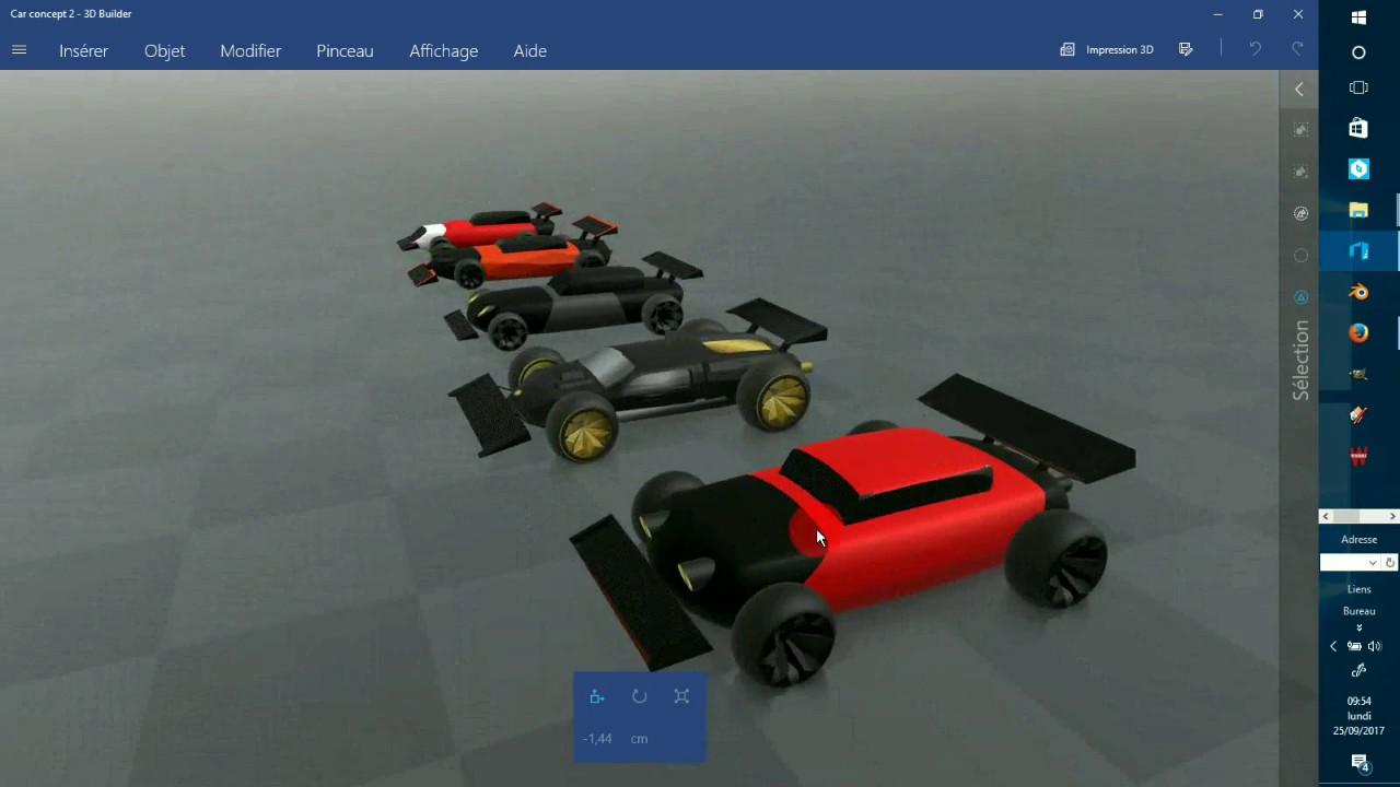 Tutoriel voiture simple 3D builder - YouTube