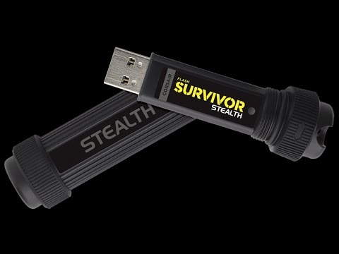 CMFSS3B-128GB Black Corsair Flash Survivor Stealth 128GB USB 3.0 Flash Drive