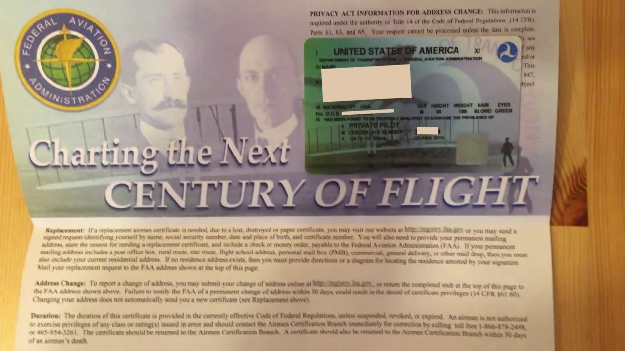 Unboxing a pilot certificate youtube unboxing a pilot certificate xflitez Images