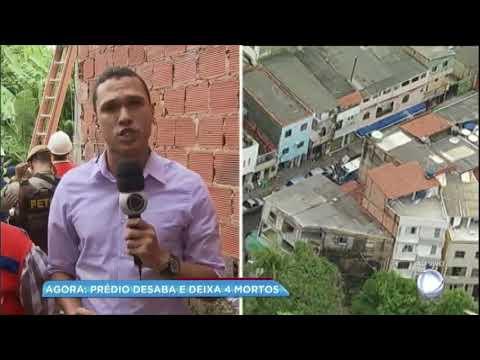 Desabamento de prédio em Salvador deixa 4 mortos