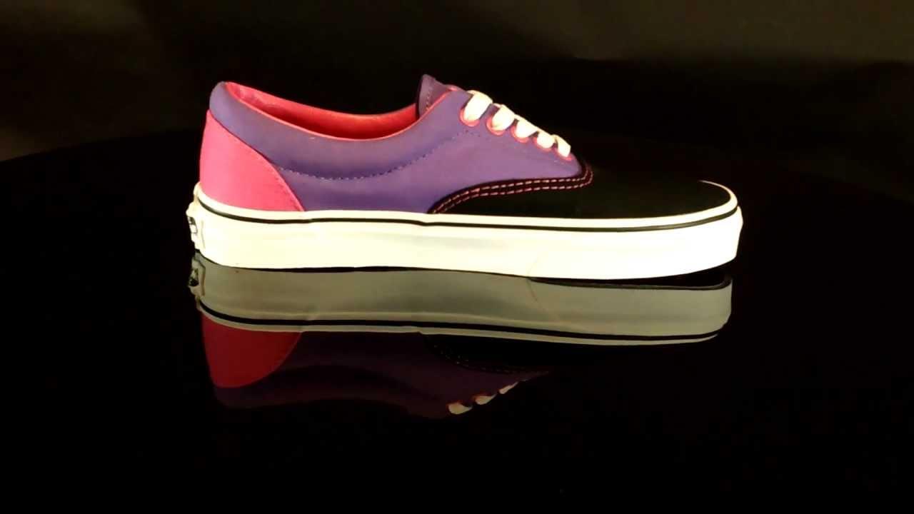 793b3b3263 Vans U ERA Tritone Black Purple Pink VNKO5P4 - YouTube