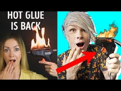 Trying 30 Genius Hot Glue Hacks By 5 Minute Crafts Part 1 Youtube