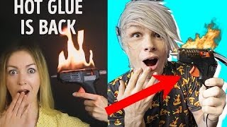 Trying 30 GENIUS HOT GLUE HACKS by 5-Minute Crafts