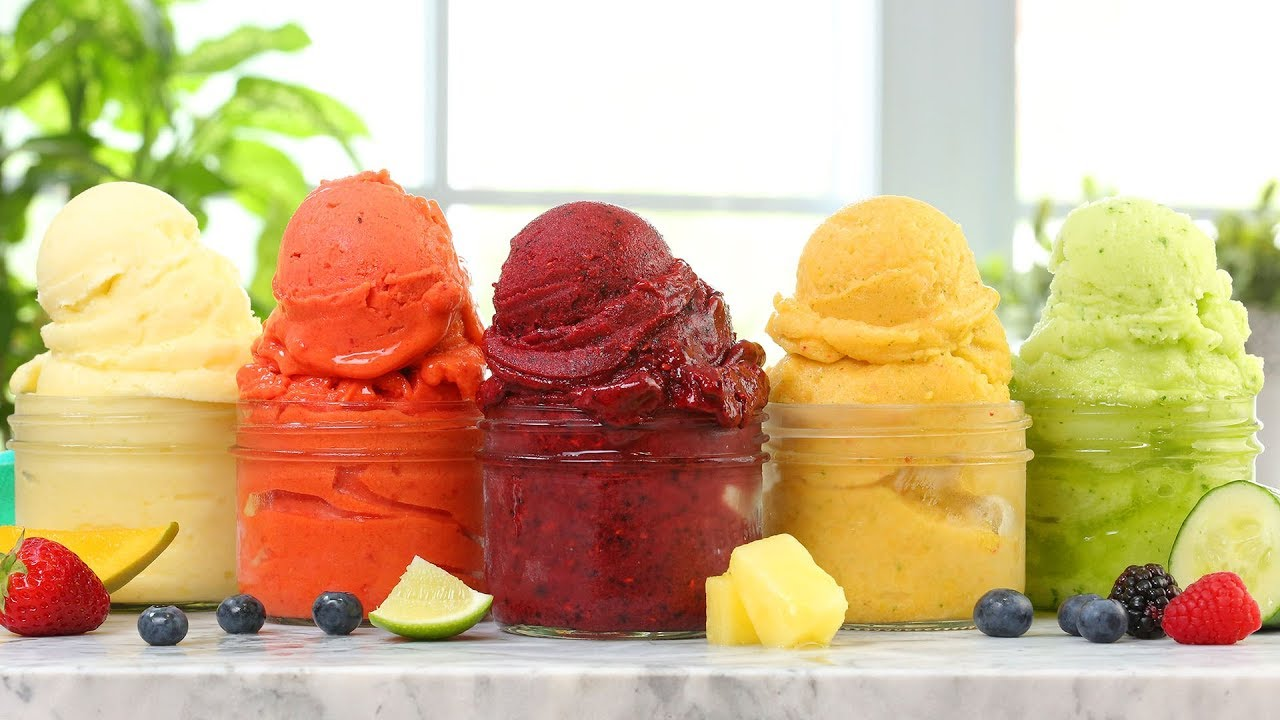 5 EASY Fruit Sorbets | Dairy Free Summer Desserts!