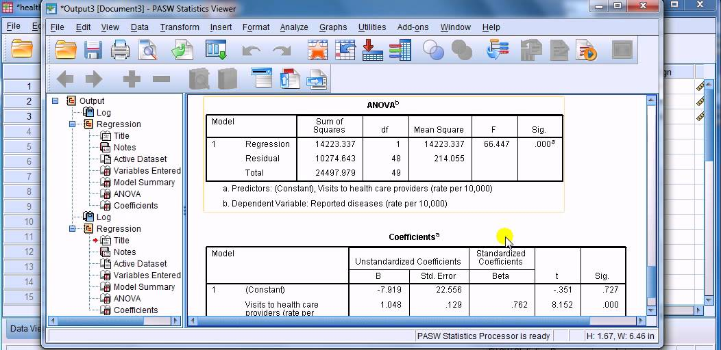 how to calculate multiple regression in spss
