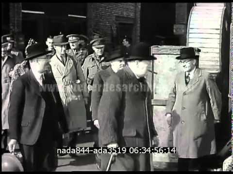 Winston Churchill pendant la bataille d'angleterre