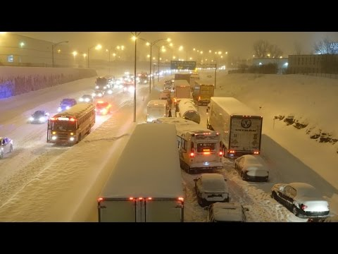 What went wrong on highway 13 during storm?