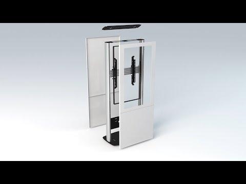 B-Tech BT7000 - Single Screen Portrait Digital Signage Kiosk - Product Overview