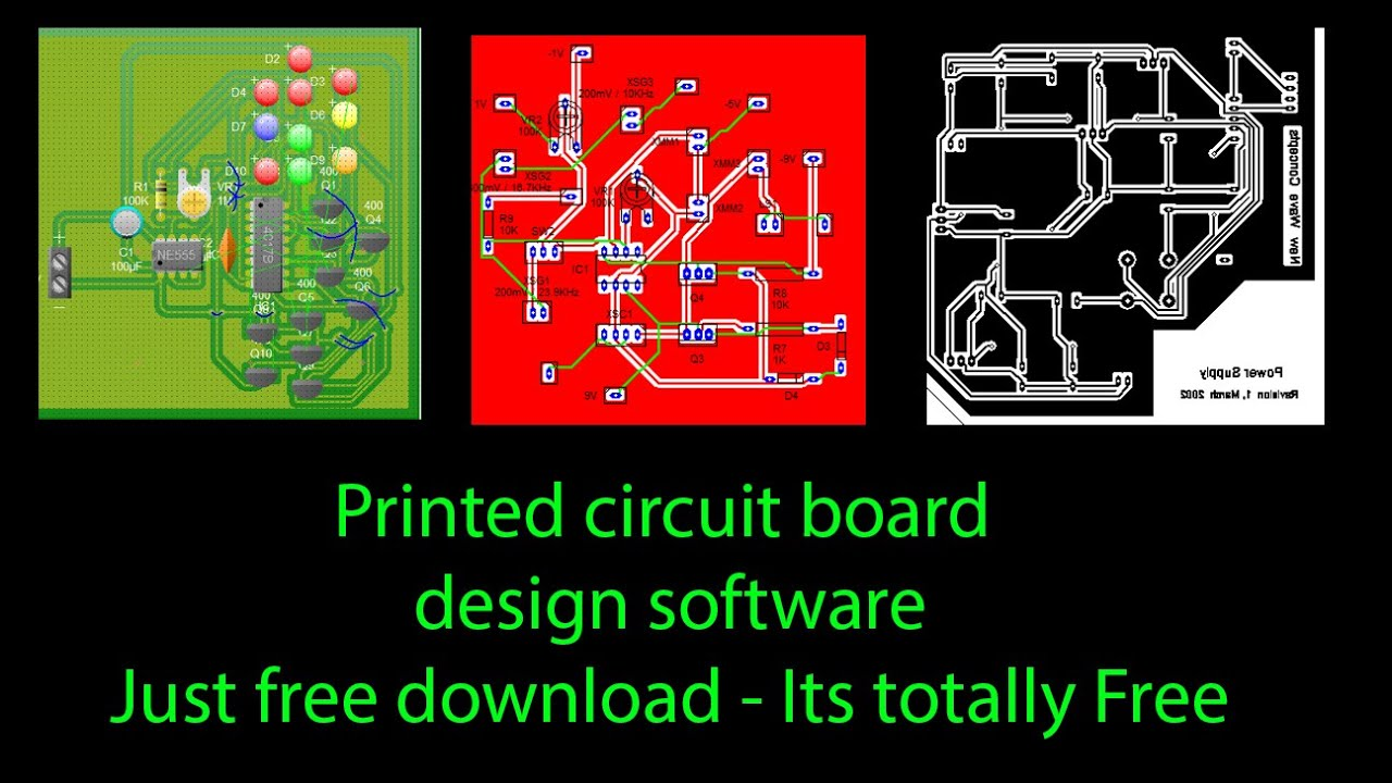 printed circuit board design software for windows 10 - YouTube